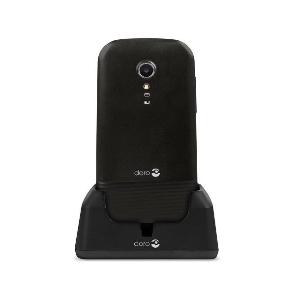 Doro primo 2404 negro móvil senior dual sim 2.4'' cámara 0.3mp bluetooth radio fm micro sd incluye base de carga