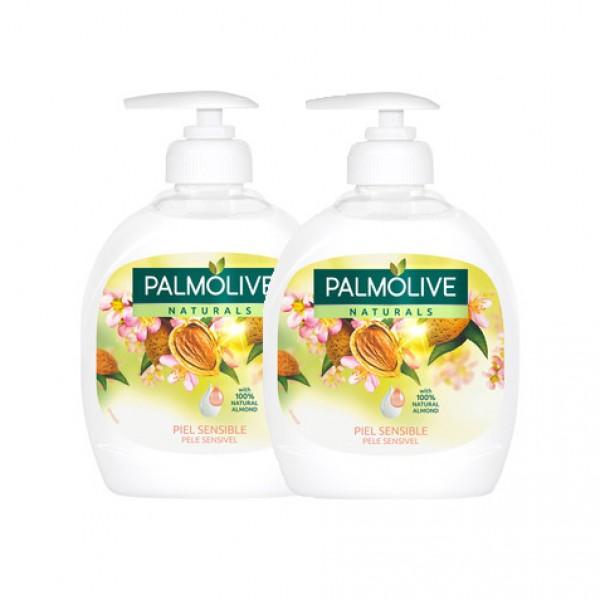 Palmolive jabon de manos leche almendras dosificador 300 ml. + recarga gratis