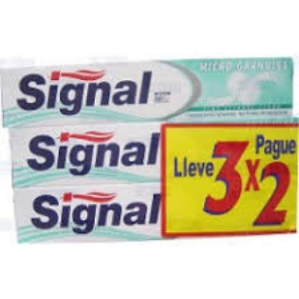 Signal  Dentífrico  Micro-Granules 75 ml   Oferta  3x2