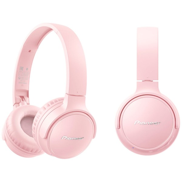 Pioneer se-s3bt rosa auriculares on-ear inalámbricos s3 wireless manos libres