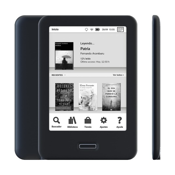 Bq cervantes 4 negro ebook reader 6'' e ink carta wifi 8gb internos 1gb ram