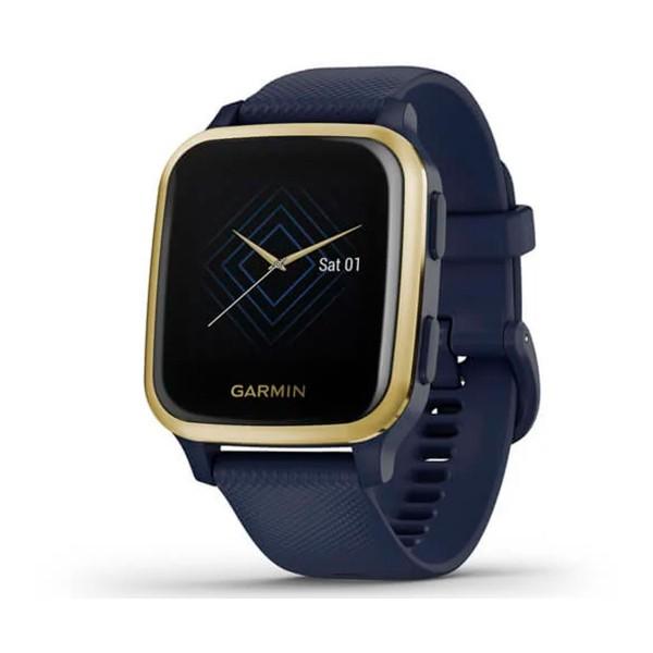 Garmin venu sq music ed. azul/dorado smartwatch multideporte gps integrado frecuencia actividad sueño