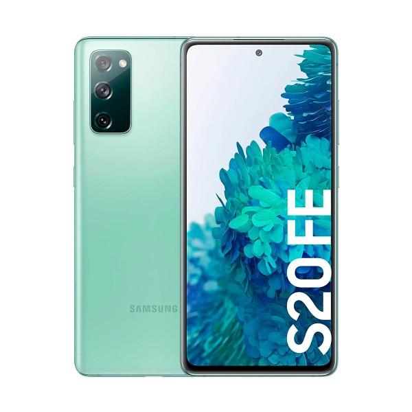 Samsung g780 galaxy s20 fe verde móvil dual sim 4g 6.5'' qhd+ octacore 128gb 6gb ram tricam 12mp selfies 32mp
