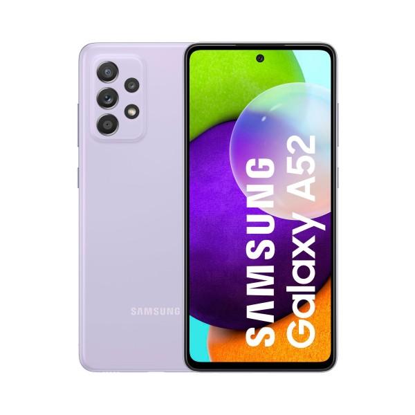 Samsung galaxy a52 a525 light violet móvil 4g dual sim 6.5'' 90hz fhd+ octacore 256gb 8gb ram quadcam 64mp selfies 32mp