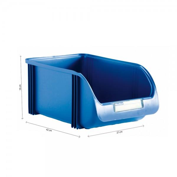 Contenedor 27cm titanium azul