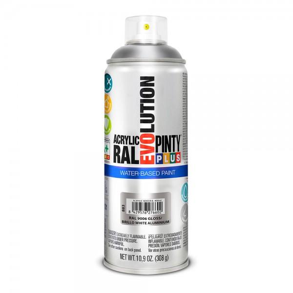 Pintura en spray pintyplus evolution water-based 520cc ral 9006 aluminio blanco